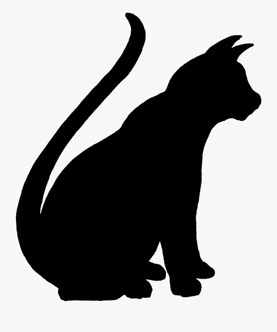 Clip Art Sitting Cat Clip Art - Sitting Cat Silhouette Png, Transparent Clipart