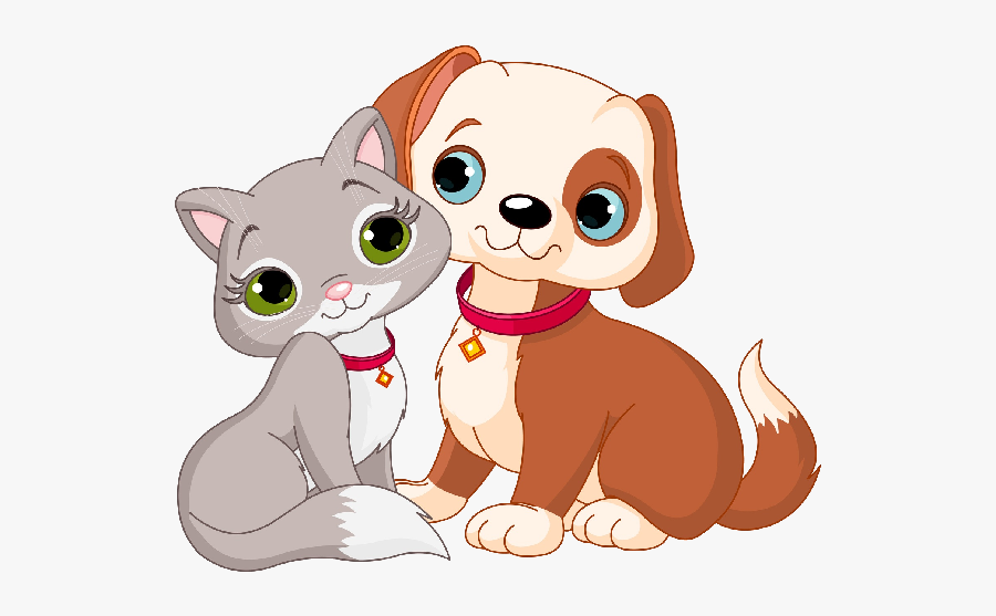 Kitty Clipart Animated - Cartoon Cat And Dog, Transparent Clipart