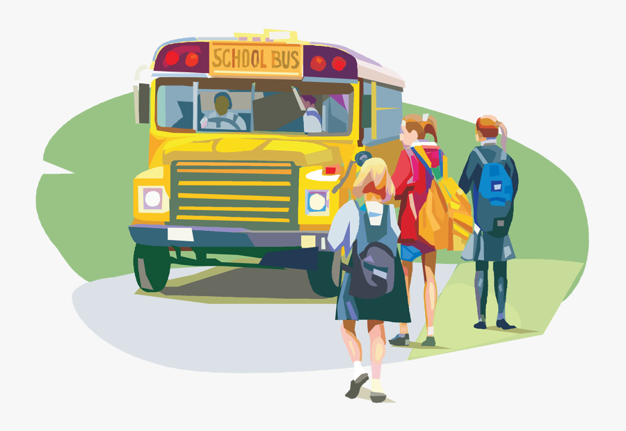 Quotes About School Buses Svg Black And White Library - School Bus Students Png, Transparent Clipart
