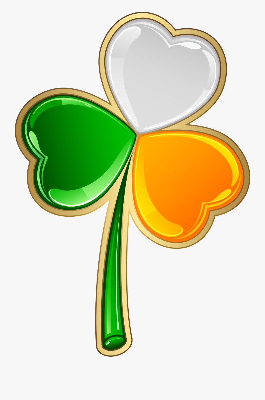 Shamrock Clipart Orange - Irish Shamrock Transparent Background, Transparent Clipart