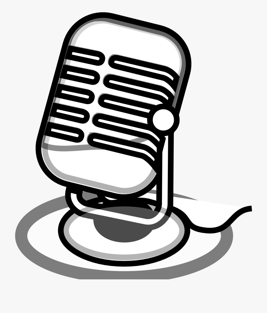 Microphone Clipart - Microphone Clip Art Black And White, Transparent Clipart