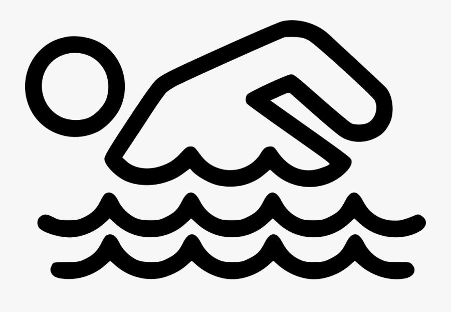 Clip Art Svg Free Stock - Drawing Of Someone Swimming, Transparent Clipart