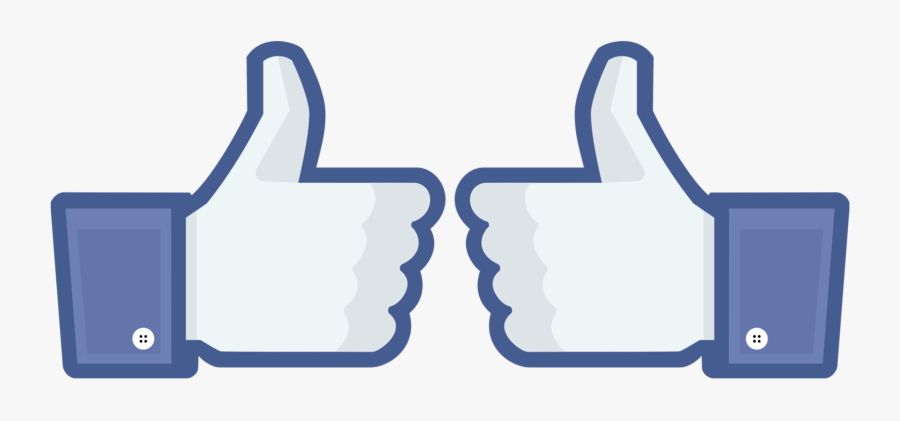 Double Thumbs Up Facebook, Transparent Clipart