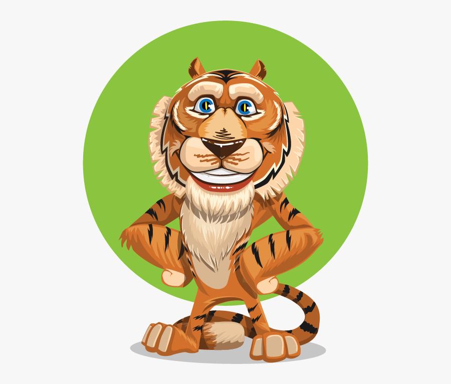 Transparent Tiger Clipart Png - Animals Cartoon Character, Transparent Clipart