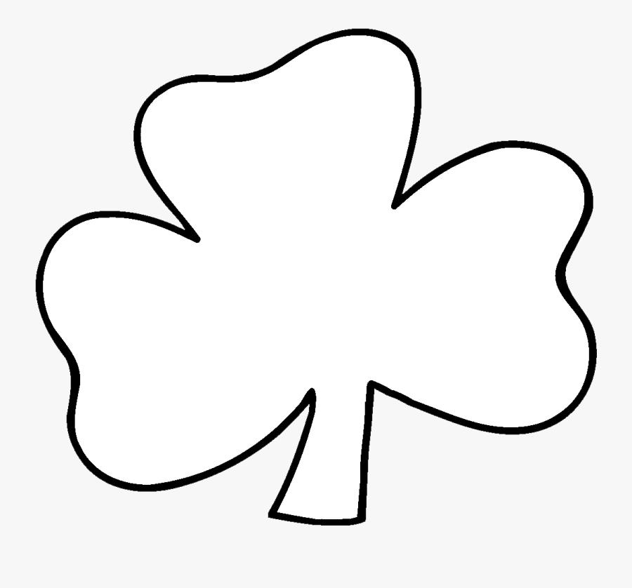 Black And White Shamrock Clipart - White Shamrock Transparent Background, Transparent Clipart