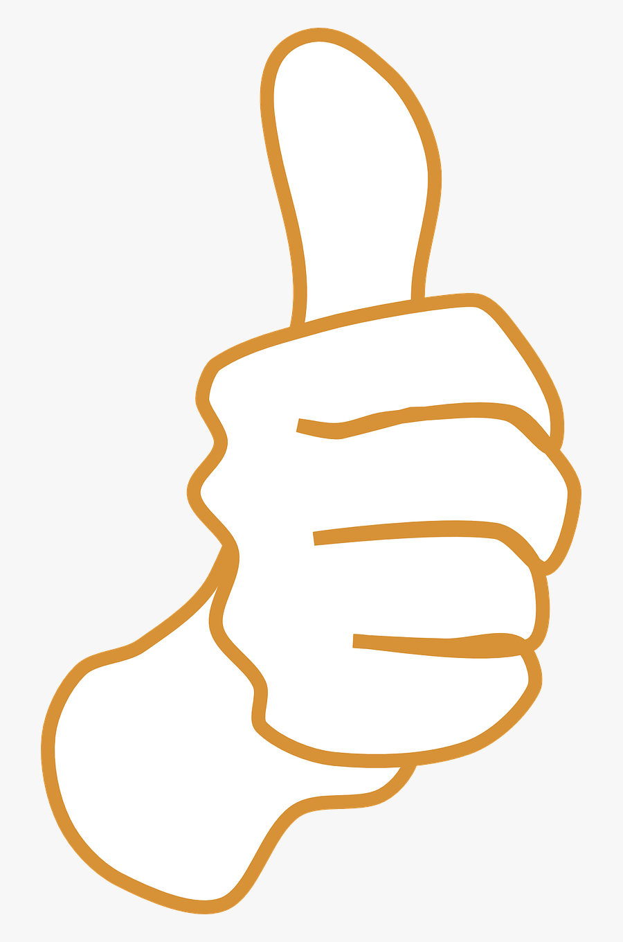 Thumb Brown Okay Free Picture - Cartoon Thumbs Up Black Background, Transparent Clipart