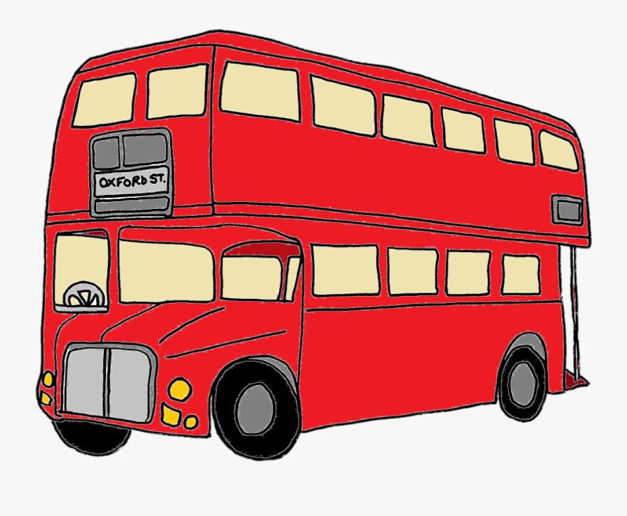 Bus Clipart London Bus - Double Decker Bus Animated, Transparent Clipart