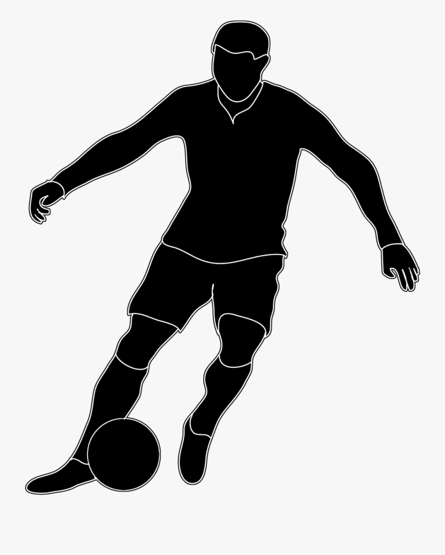 Image Result For Soccer Images Clip Art - Soccer Player Black And White Clipart, Transparent Clipart