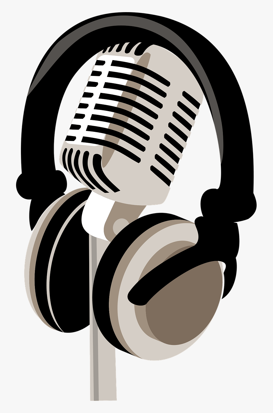 Microphone - - Headphone And Mic Png, Transparent Clipart