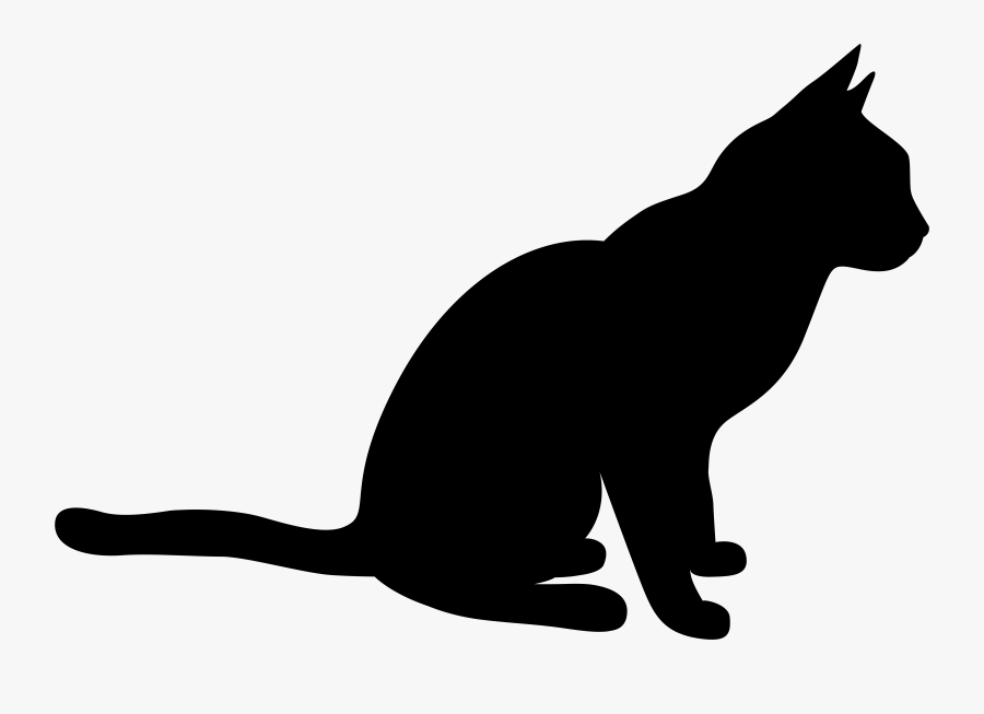 Black Cat Black And Animal Shadow Clipart Of Epinions, - Domestic Short-haired Cat, Transparent Clipart
