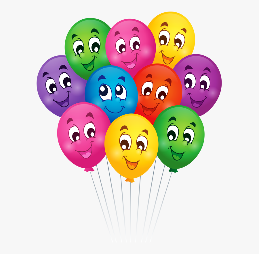 Happy Birthday Smiley Face Clipart For Your App - Cartoon Images Of Balloons, Transparent Clipart