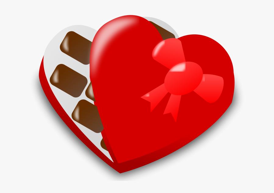 Valentine Icon Free Candy - Valentine Chocolate Clip Art, Transparent Clipart