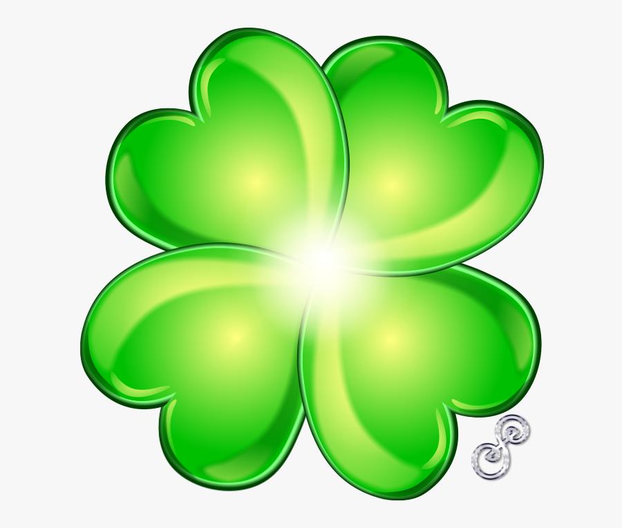 Transparent Four Leaf Clover Clipart - Four Leaf Clover Lucky Transparent, Transparent Clipart