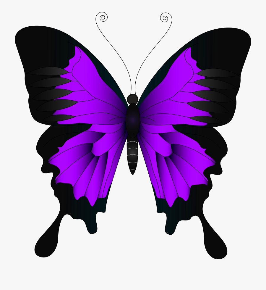 Clip Art Purple Butterflies Clipart - Clipart Yellow Butterfly, Transparent Clipart