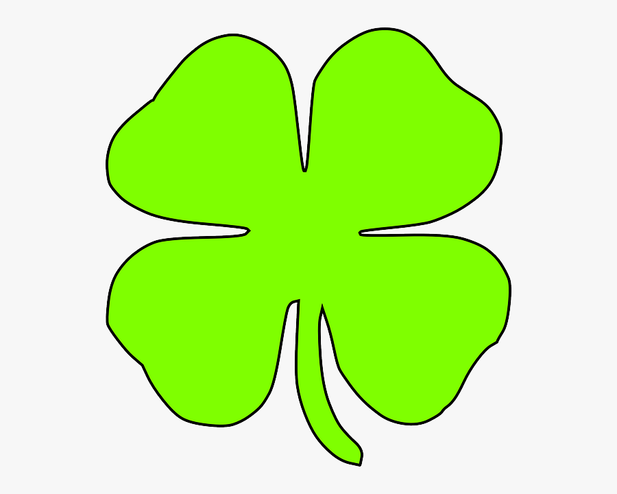 Light Green Shamrock, Transparent Clipart