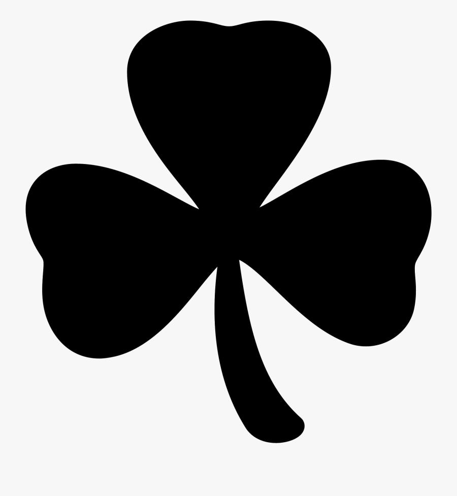Trend White Four Leaf Clover Png, Picture - Black 3 Leaf Clover, Transparent Clipart