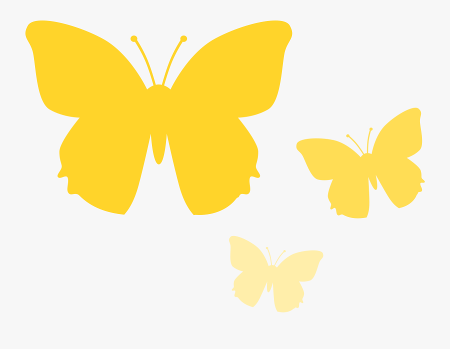 Collection Of Free Butterfly - Small Yellow Butterfly Clip Art, Transparent Clipart