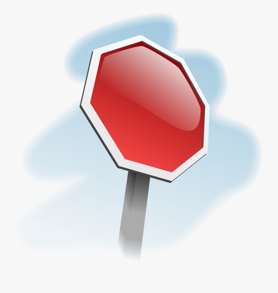 Stop Sign Angled - Stop Sign Without Letters, Transparent Clipart