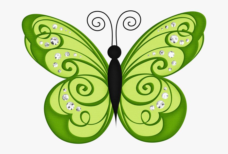 Butterfly Green Clip Art, Transparent Clipart
