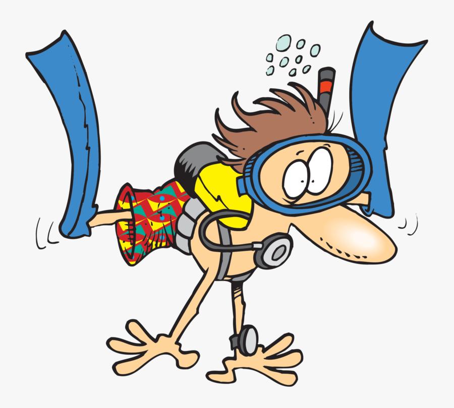 Clip Art Cartoon Person Swimming Cartoon Scuba Diver Free Transparent Clipart Clipartkey