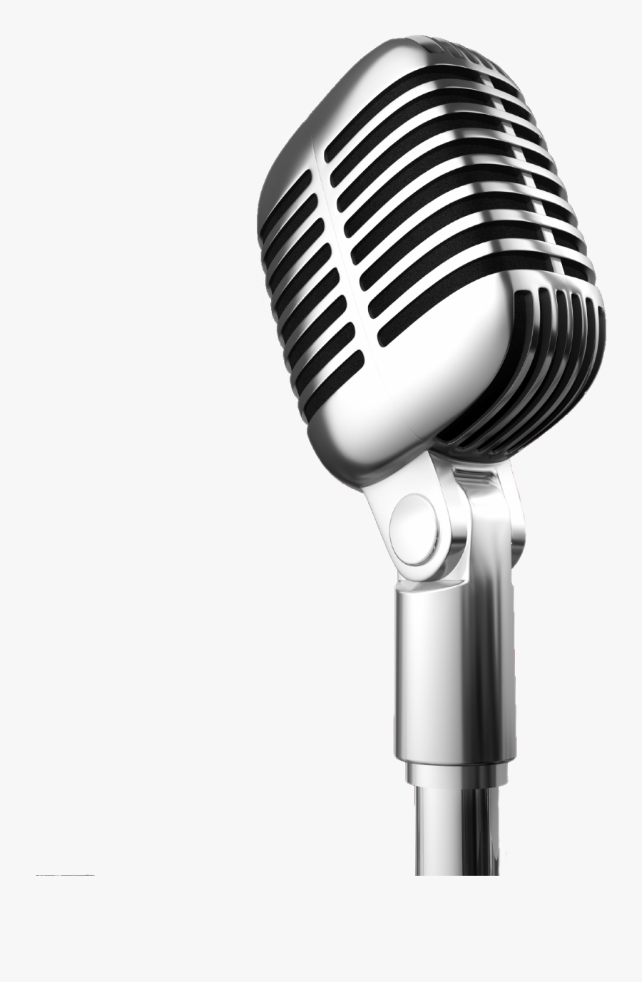 Microphone News Book Human Voice Recording Studio - Microphone Transparent, Transparent Clipart