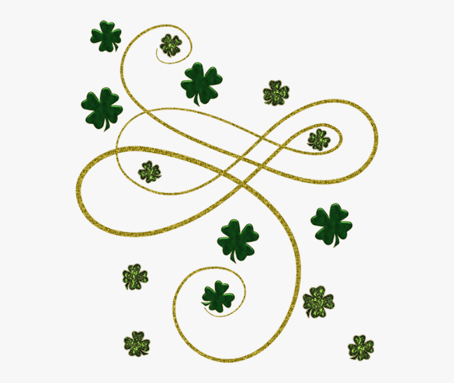 Hd Irish People Day - Four Leaf Clover Border, Transparent Clipart