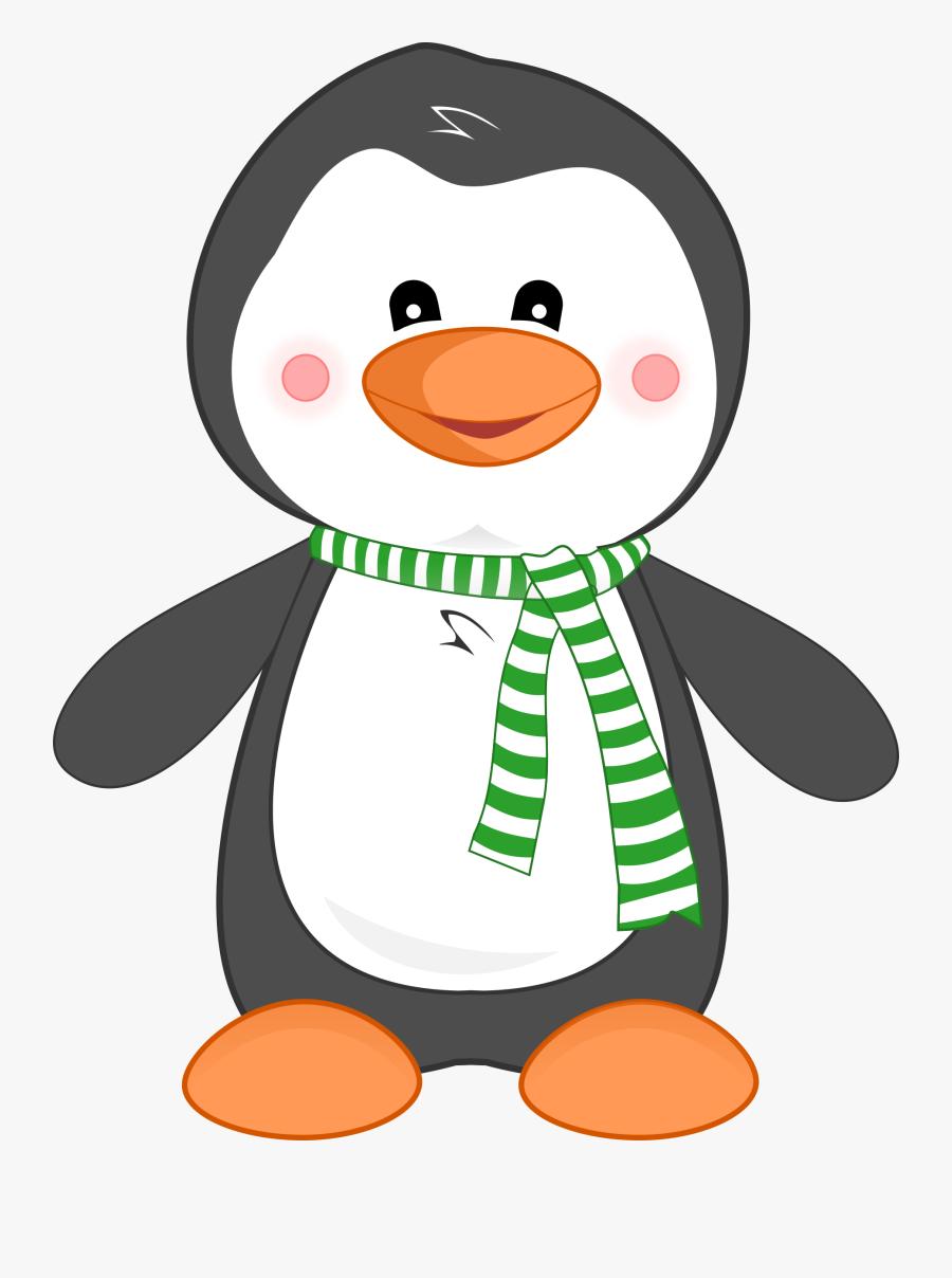 Penguin Clipart Pierre The Transparent Png - Penguin With Scarf Clipart, Transparent Clipart