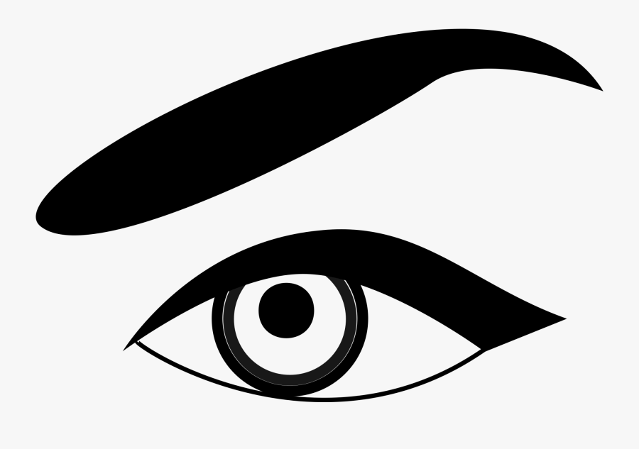 Eye - Clip - Art - Black - And - White - Eyebrow Black And White Clipart, Transparent Clipart
