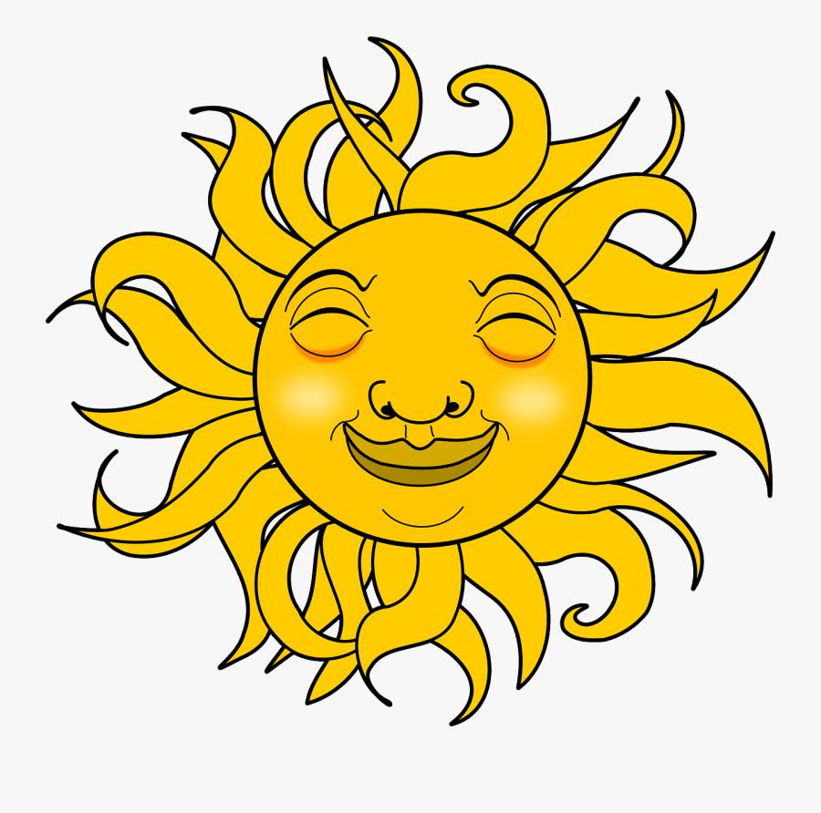 Sunshine Smiley Face Clip Art Clipart Best Clipart - Gif Transparent Background Sun, Transparent Clipart