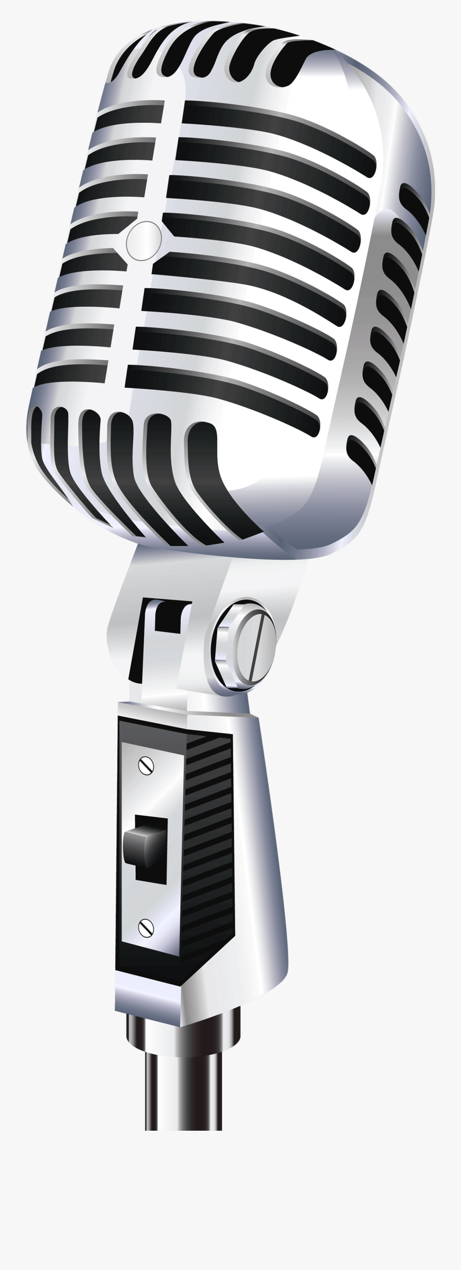 Transparent Microfone Png - Microphone Png, Transparent Clipart