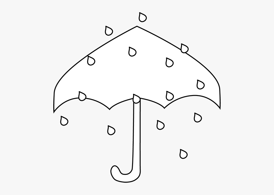 Rain Umbrella Black And White, Transparent Clipart