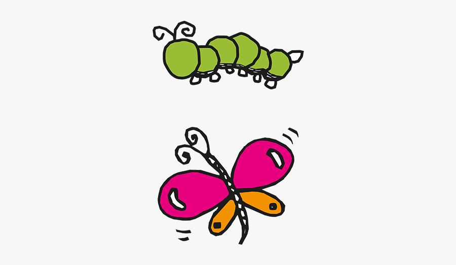 Caterpillars And Butterflies - Caterpillar To Butterfly Clipart, Transparent Clipart
