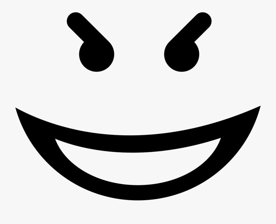 Transparent Happy Clipart Black And White - Evil Smiley Face Png, Transparent Clipart