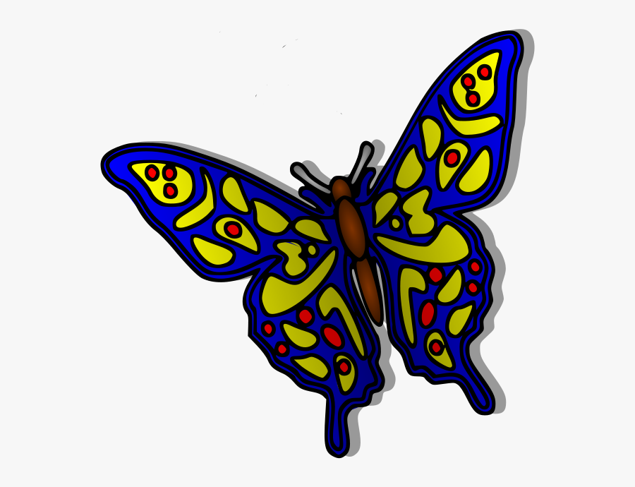 Transparent Monarch Butterflies Png - Many Colorful Butterfly Design, Transparent Clipart