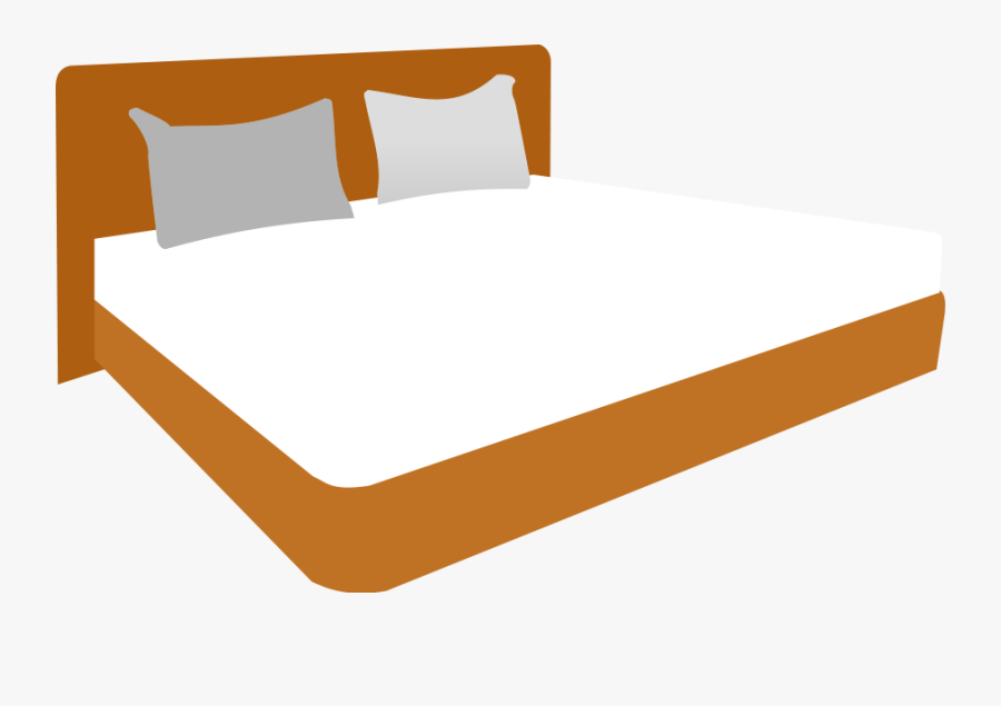 Double Bed - Clip Art King Bed, Transparent Clipart