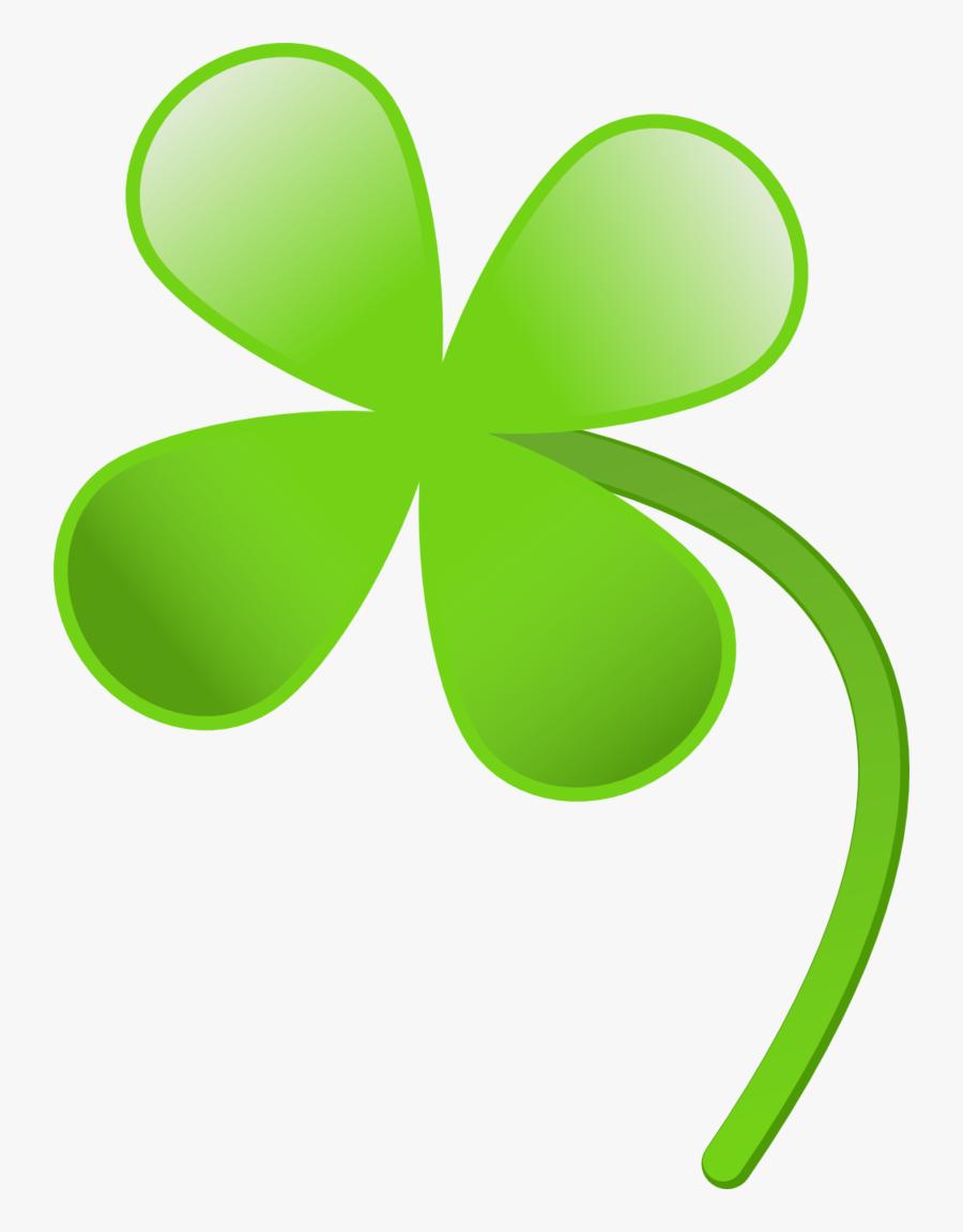 Four Leaves Clover Clipart, Vector Clip Art Online, - Four Leaf Clover Transparent Background, Transparent Clipart