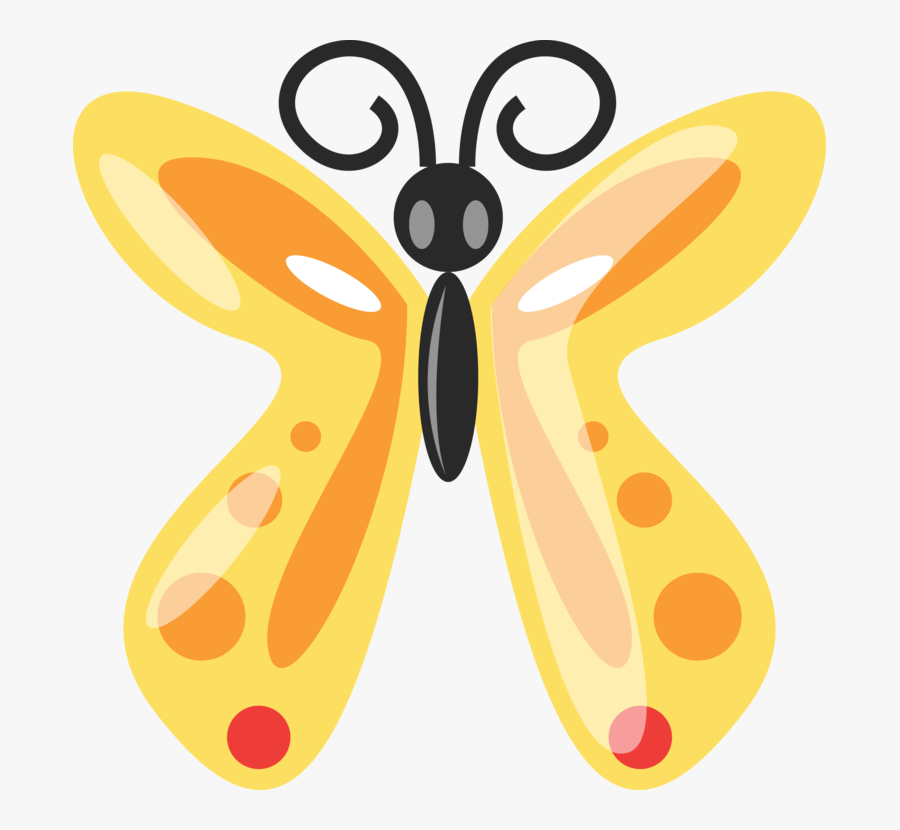 Butterfly Clip Art - Clipart Cute Butterfly Cartoon, Transparent Clipart