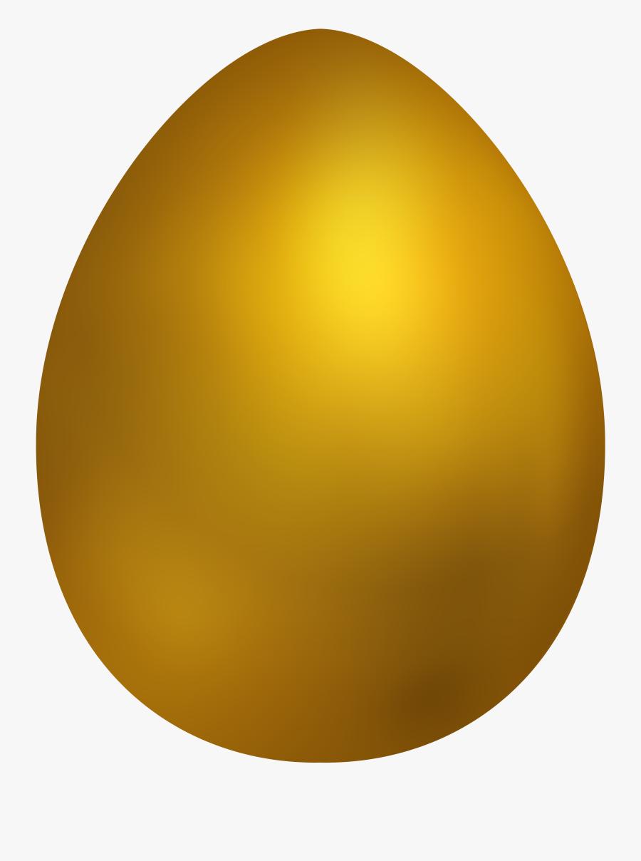 Gold Easter Egg Png Clip Art - Gold Easter Egg Png, Transparent Clipart