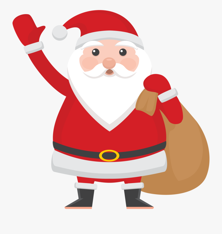 Santa Clipart Hip Hop - Santa Claus Illustration Png, Transparent Clipart
