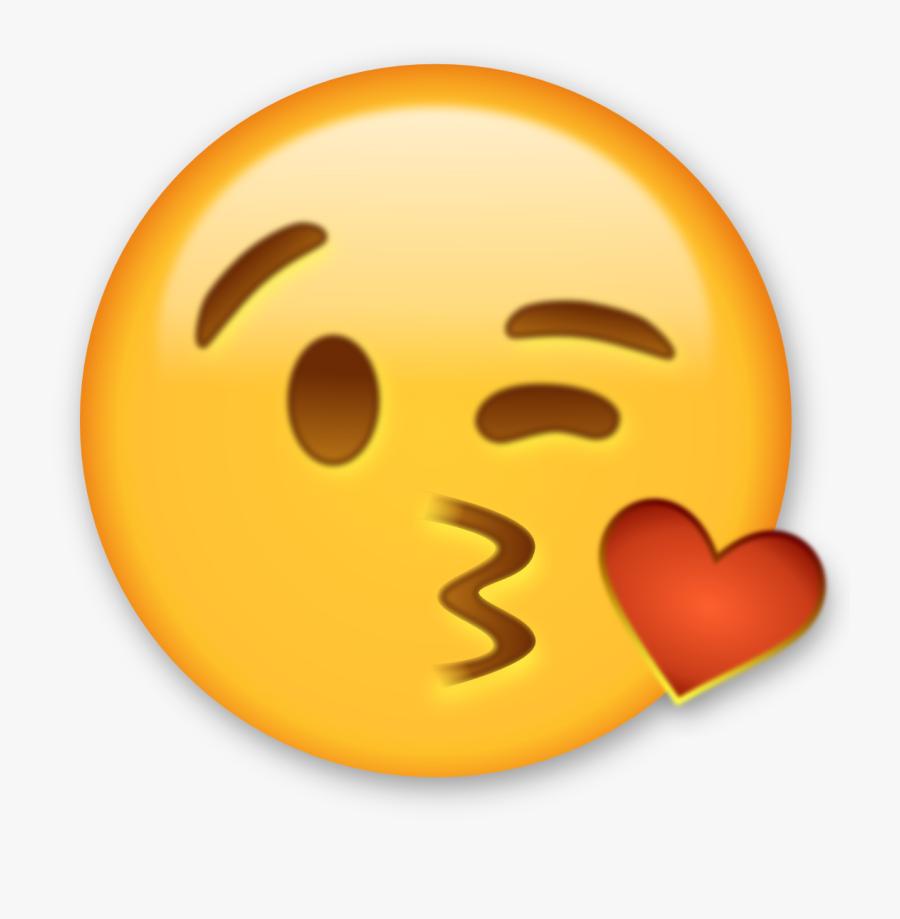 Winking Emoji Emoji Good Job Clipart Kid - Kiss Emoji Clip Art, Transparent Clipart