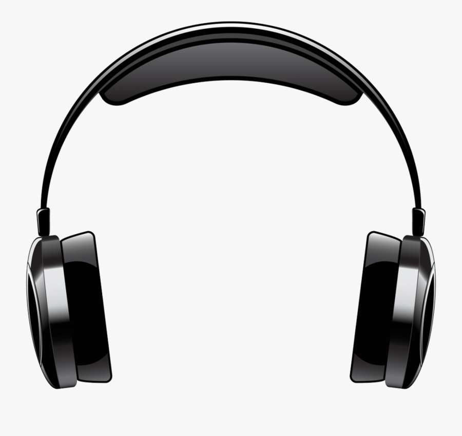 Headphones Clip Art Png - Transparent Background Cartoon Headphones, Transparent Clipart