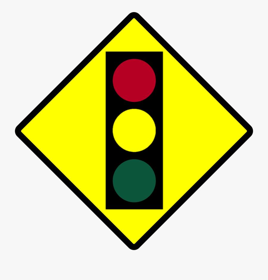 1141 X 1142 - Stop Sign Ahead Sign, Transparent Clipart