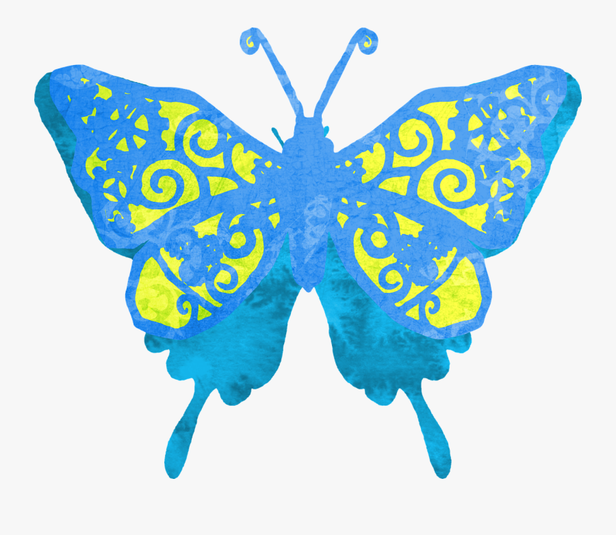 Butterfly Clipart Blue Free Picture - Butterfly Designs Transparent Background, Transparent Clipart
