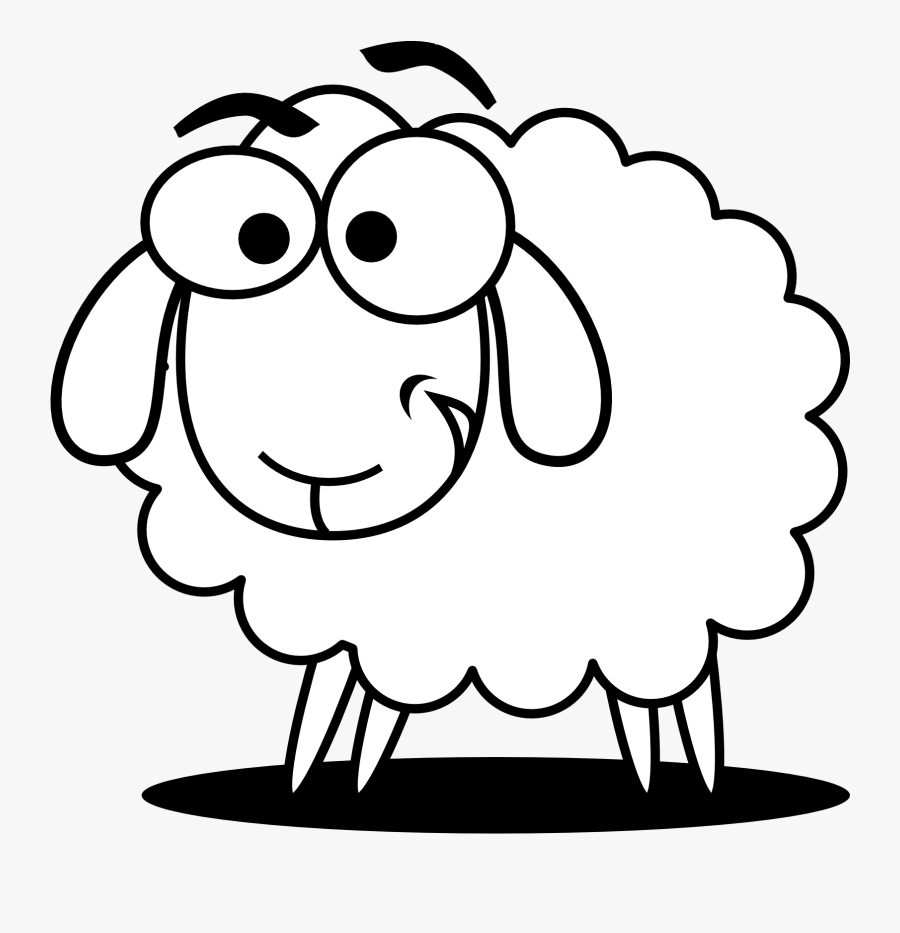 Lamb Sheep Animal Free Clipart Images - Sheep Black And White, Transparent Clipart