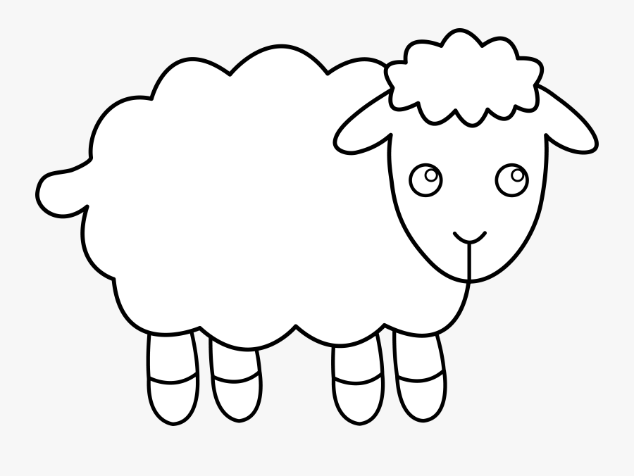 Sheep Clip Art Black And White, Transparent Clipart