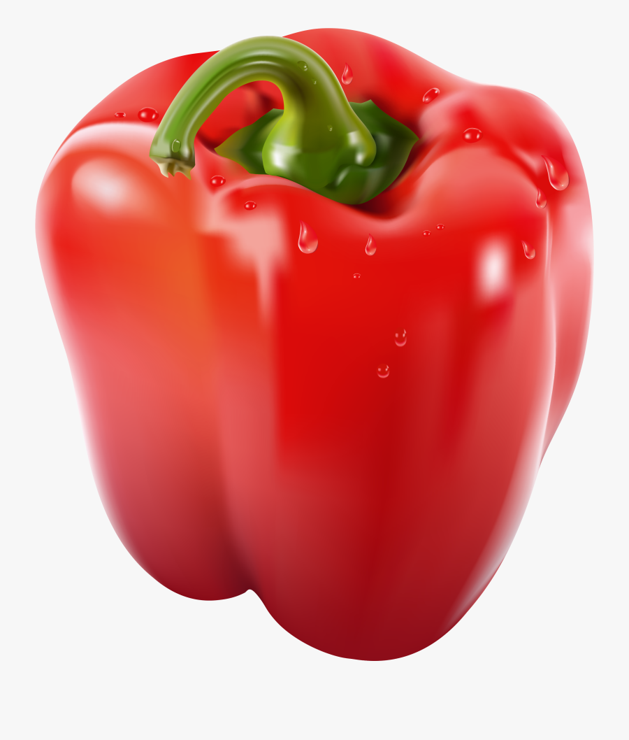 Transparent Red Png Picture - Red Bell Pepper Png, Transparent Clipart