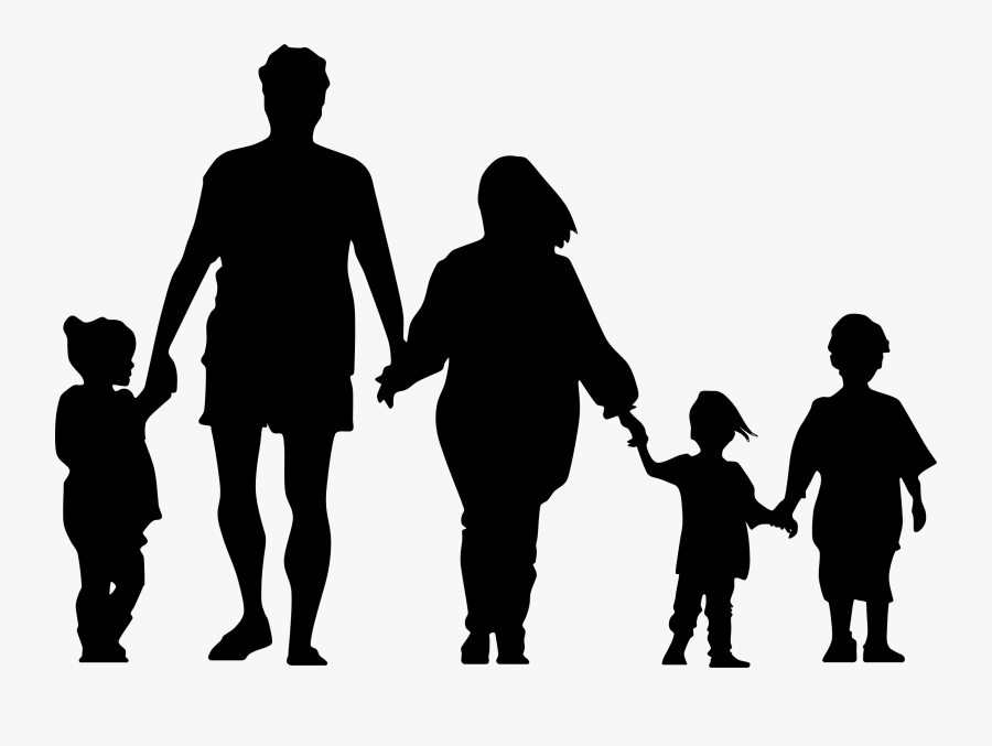 Silhouette Of A Family At Getdrawings - Silhouette Of A Family Holding Hands, Transparent Clipart