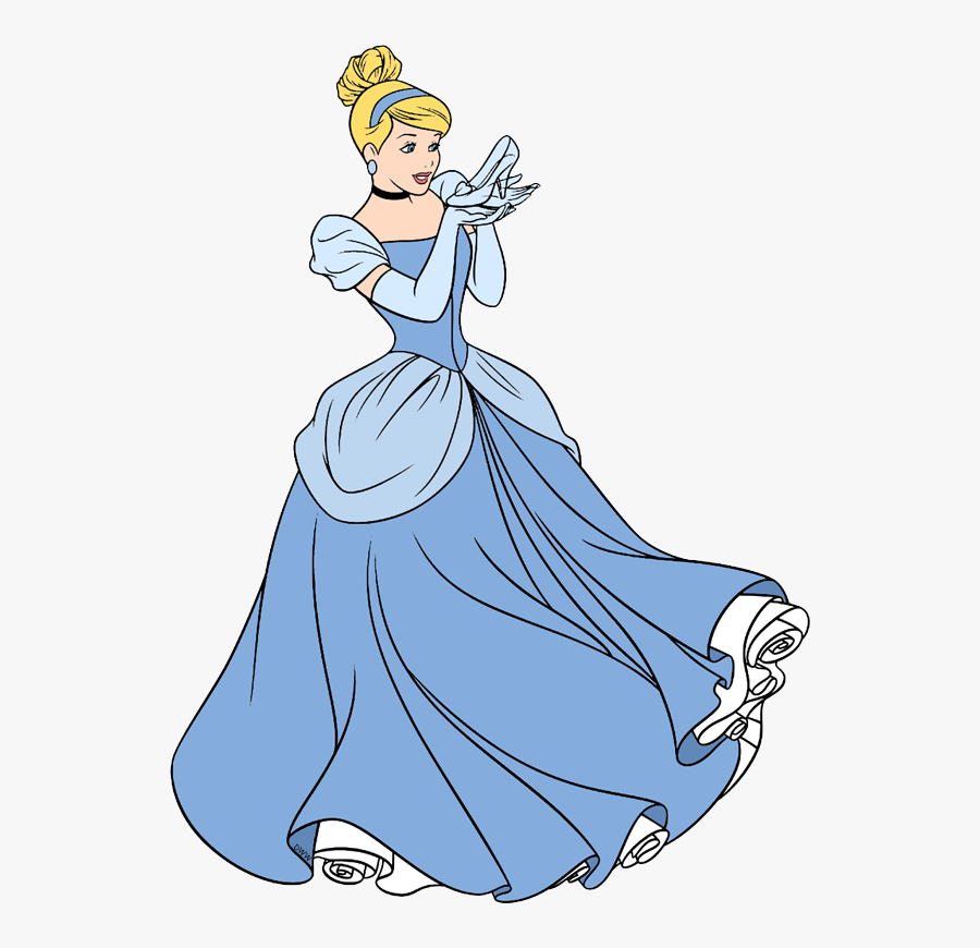 Transparent Disney Characters Png - Cinderella And Her Glass Slipper, Transparent Clipart