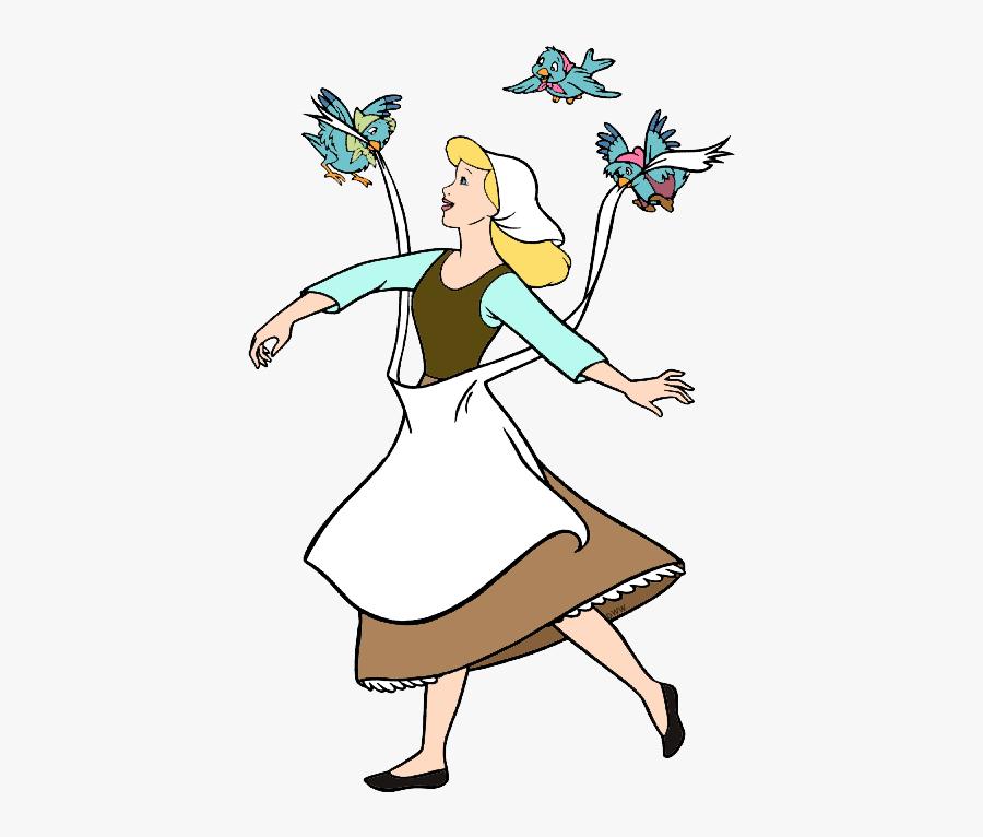 Cinderella, Mice And Birds Clip Art Image Clip Art - Cinderella Bird And Mice, Transparent Clipart