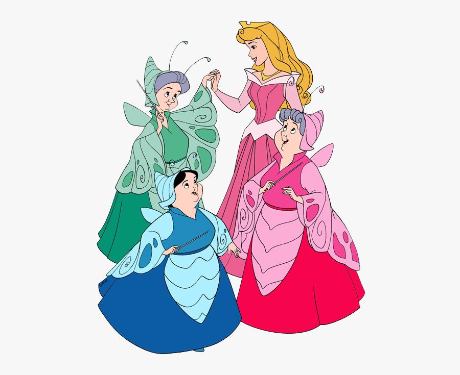 Fairies Clipart Cinderella - Aurora Fairies, Transparent Clipart